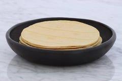 Delicious mexican corn tortillas Stock Photography