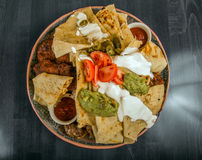 Delicious mexican food on a plate Stock Photography