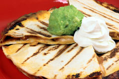 Delicious mexican quesadilla Royalty Free Stock Images