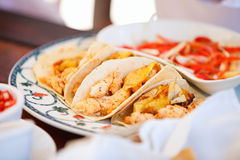 Delicious mexican tacos Stock Photo