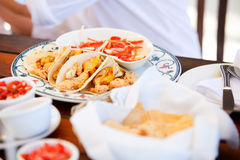 Delicious mexican tacos Royalty Free Stock Images