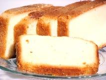 Delicious milk cake slices royalty free stock image