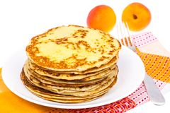 Delicious milk thin pancakes Royalty Free Stock Image