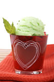 Delicious mint ice cream royalty free stock photography