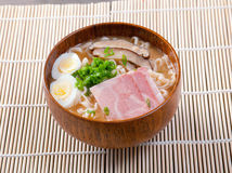 Delicious miso ramen Stock Images