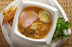 Delicious miso ramen. Stock Photo