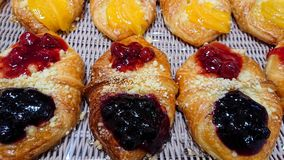 Mixed Berry Danish Sold in Bakeries. stock images