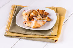 Delicious mixed croissants ready for breakfast Stock Photo