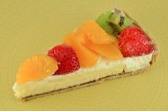 A delicious mixed fruit tart Stock Photos