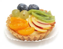 Delicious mixed fruit tart Royalty Free Stock Image