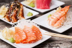 Delicious mixed sashimi Stock Photography