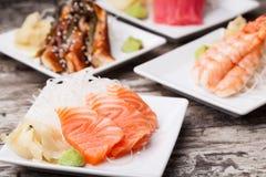 Delicious mixed sashimi Royalty Free Stock Image