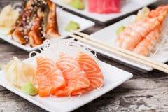 Delicious mixed sashimi Stock Photo