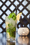 Delicious mojito cocktail on a table Stock Photo