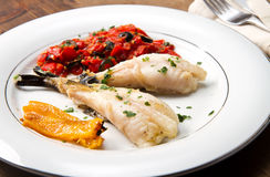 Delicious monkfish Stock Photography