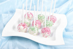 Delicious and mouth watering lollypop pastry Stock Images