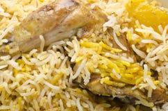 Delicious mouthwatering Biryani. Yummy delicious mouthwatering colorful Biryani Stock Photography