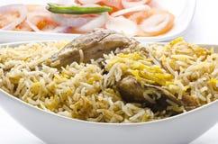 Delicious mouthwatering   Biryani. Yummy delicious mouthwatering colorful Biryani Stock Images