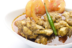 Delicious mouthwatering chicken curry Royalty Free Stock Photos
