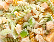 Delicious mouthwatering pasta salad Royalty Free Stock Photo