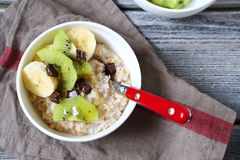 Delicious muesli with fruit stock image