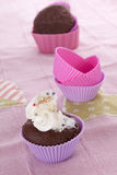 Delicious muffin baking still life. Royalty Free Stock Images