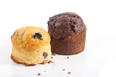 Delicious muffins on white background Stock Photo