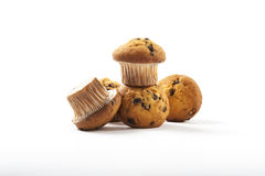 Delicious muffins on a white background Royalty Free Stock Photo