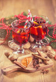Delicious mulled wine Royalty Free Stock Photography