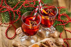 Delicious mulled wine Stock Photos