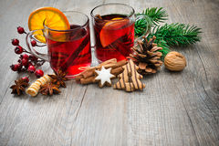 Delicious mulled wine Royalty Free Stock Image