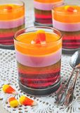 Delicious multi-layered fruit jelly Royalty Free Stock Photos