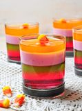 Delicious multi-layered fruit jelly Royalty Free Stock Photography