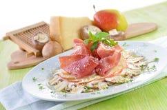 Delicious mushroom carpaccio Stock Photography
