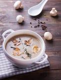 Delicious mushroom soup Stock Photo