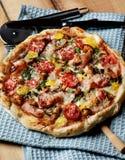 Delicious Mushrooms Pizza Stock Photos