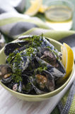 Delicious mussels Stock Photography