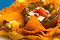 Delicious Nachos Plate Stock Photography