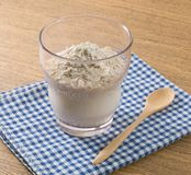Delicious Natural Yoghurt with Oats in A Glass Stock Images