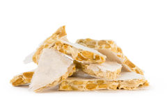 Delicious nougat. Royalty Free Stock Image