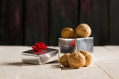 Delicious Nut Cookies Stock Images