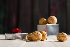 Delicious Nut Cookies Royalty Free Stock Photo