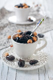 Nuts and plum Stock Photography