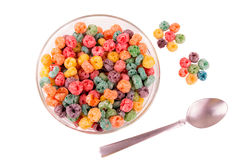 Delicious and nutritious fruit cereal loops Royalty Free Stock Photography