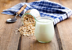 Delicious, nutritious and healthy yogurt Royalty Free Stock Images