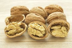 Delicious nuts 4. Walnuts close-up, dried fruit very good, Italian agriculture product Royalty Free Stock Photos