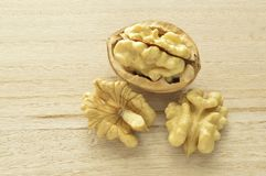 Delicious nuts 1. Walnuts close-up, dried fruit very good, Italian agriculture product Royalty Free Stock Image