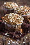 Delicious oat and nut muffin Stock Photography