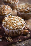 Delicious oat and nut muffin Stock Photo