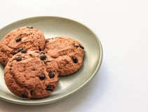 Delicious oatmeal cookies and a glass of milk Stock Photography